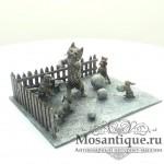 """Венская бронзовая миниатюра """"Игра в снежки"""""""