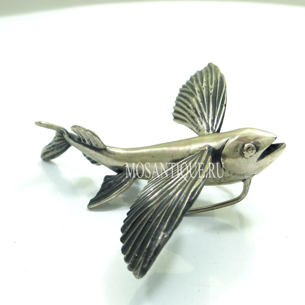 "Серебряная фигурка ""Летучая рыба"""