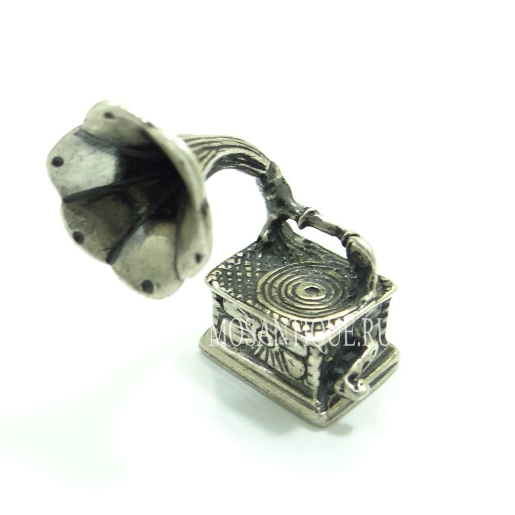 """""""Граммофон""""- серебряная миниатюра"""