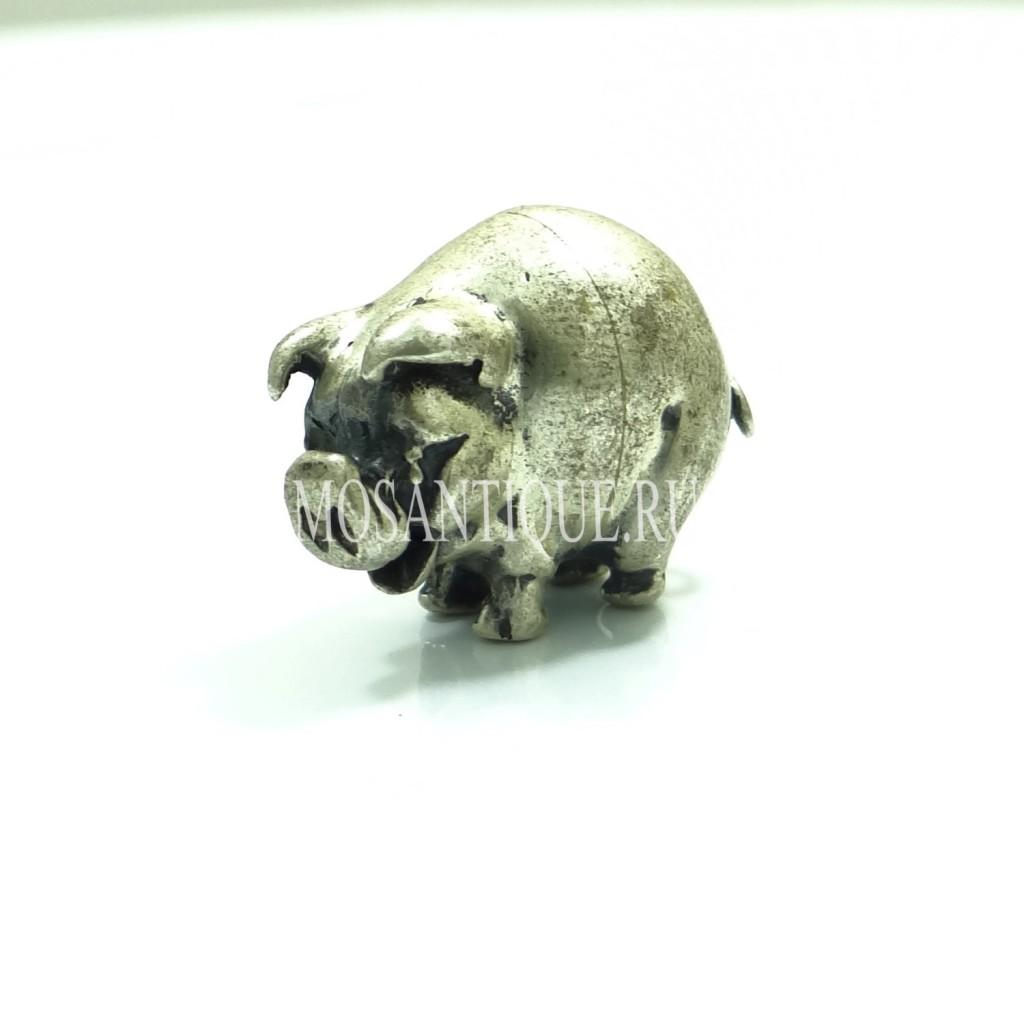 """Фигурка из серебра """"Свинка"""""""