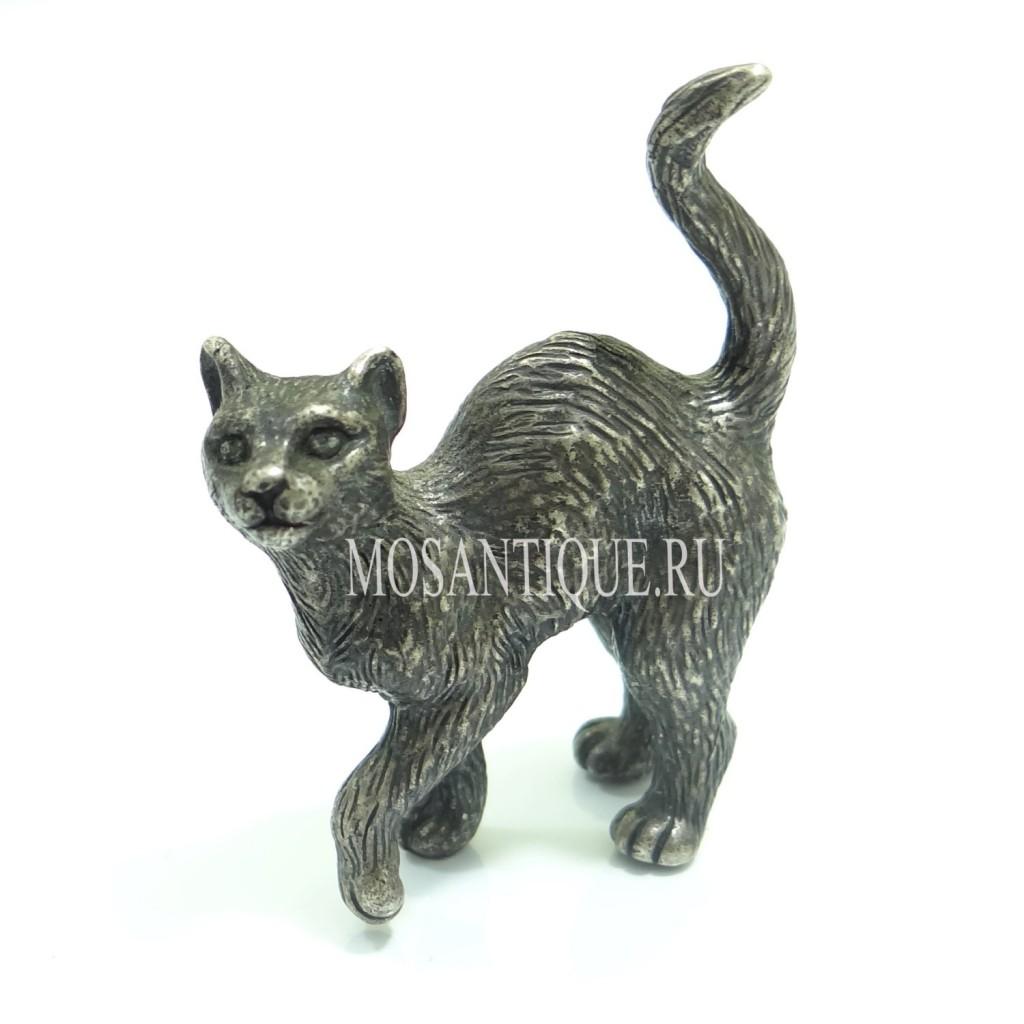 Статуэтка кошки из серебра