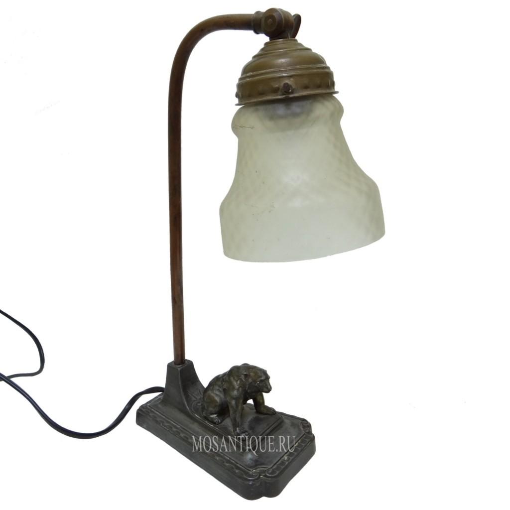 """Старинная лампа """"Медведь"""""""