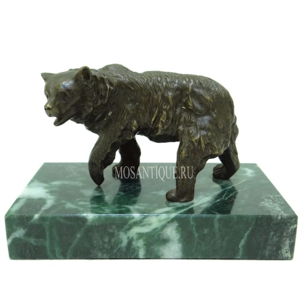 """Статуэтка из бронзы """"Медведь"""""""