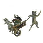 Статуэтка Кота и кошки с тележкой