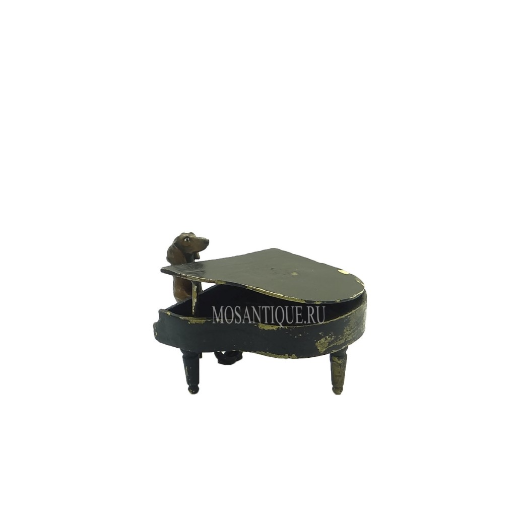 "Статуэтка собаки ""Такса за роялем"" / Dachshund Playing Piano"