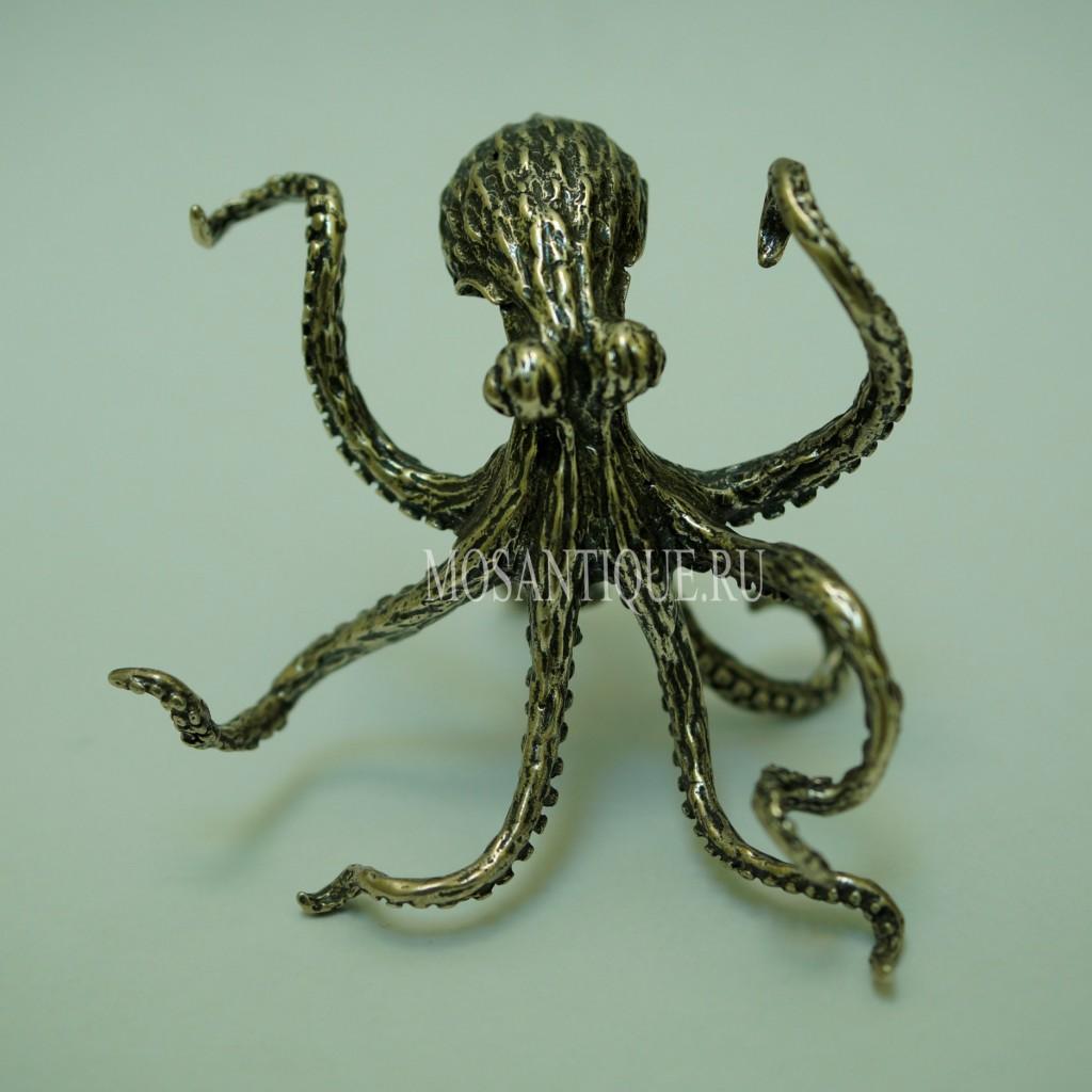 Фигурка осьминога | Серебро