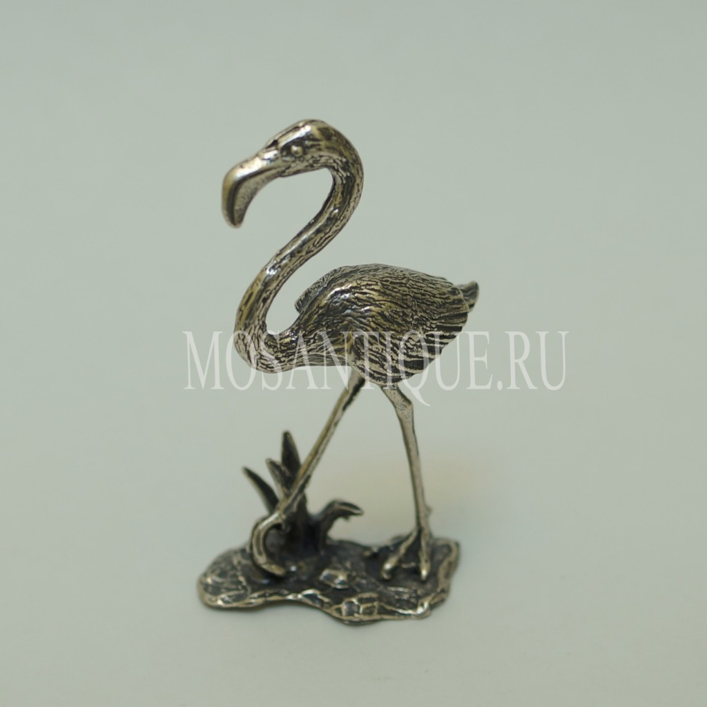 Фигурка Фламинго |Серебро 800 Пробы