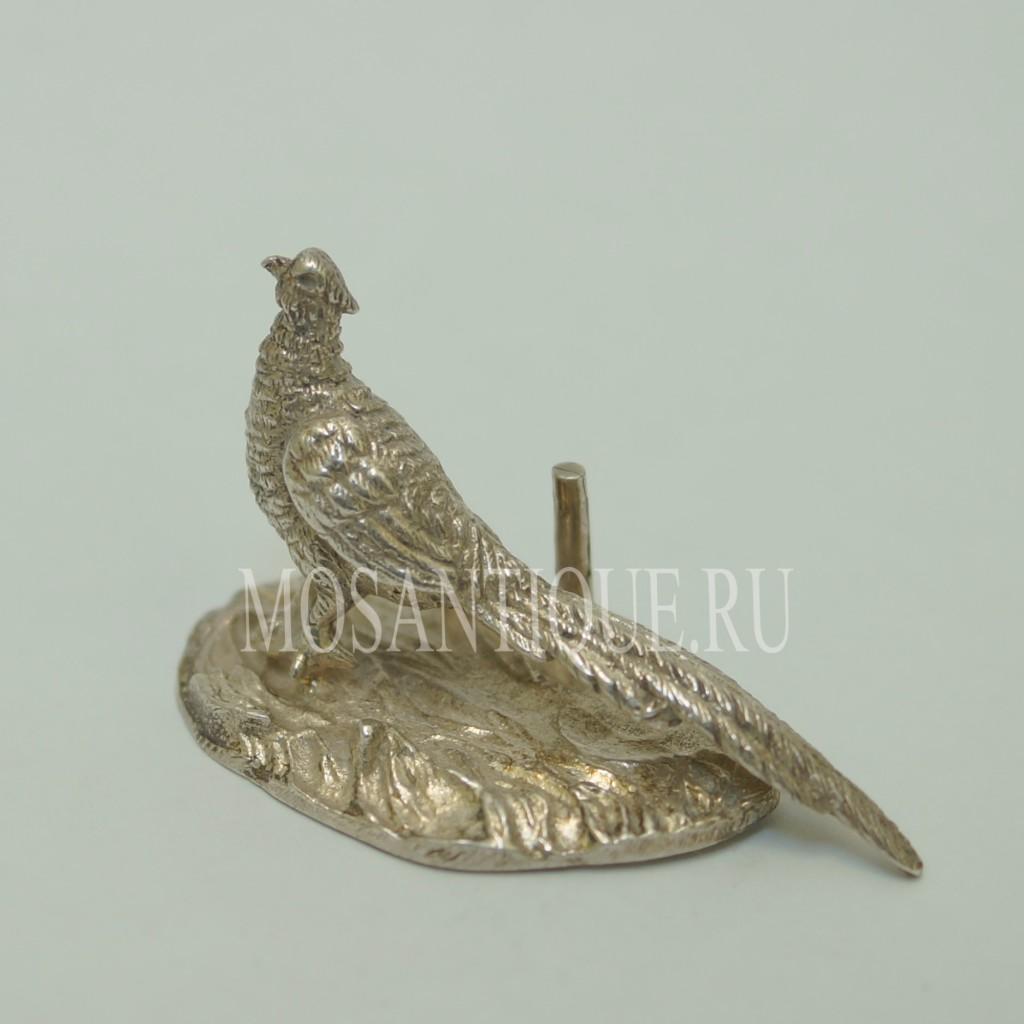 Серебряная Статуэтка Павлин|Серебро