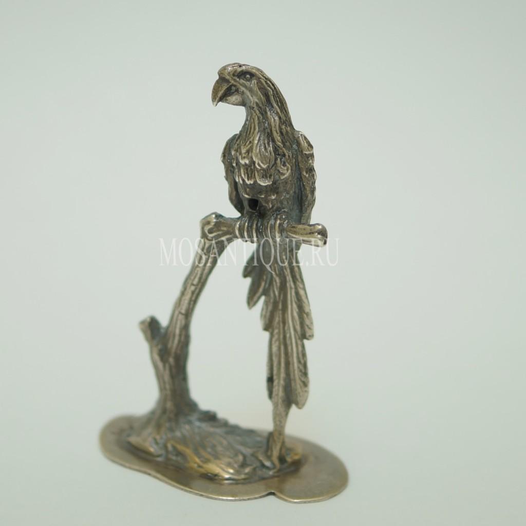 Фигурка Птицы Попугай|Серебро