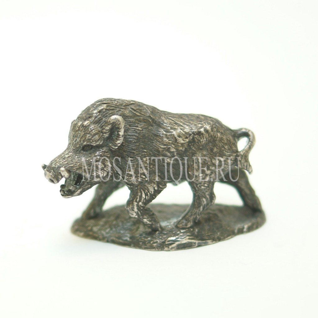 Подарок Охотнику | Фигурка Кабана |Серебро 925 Пробы