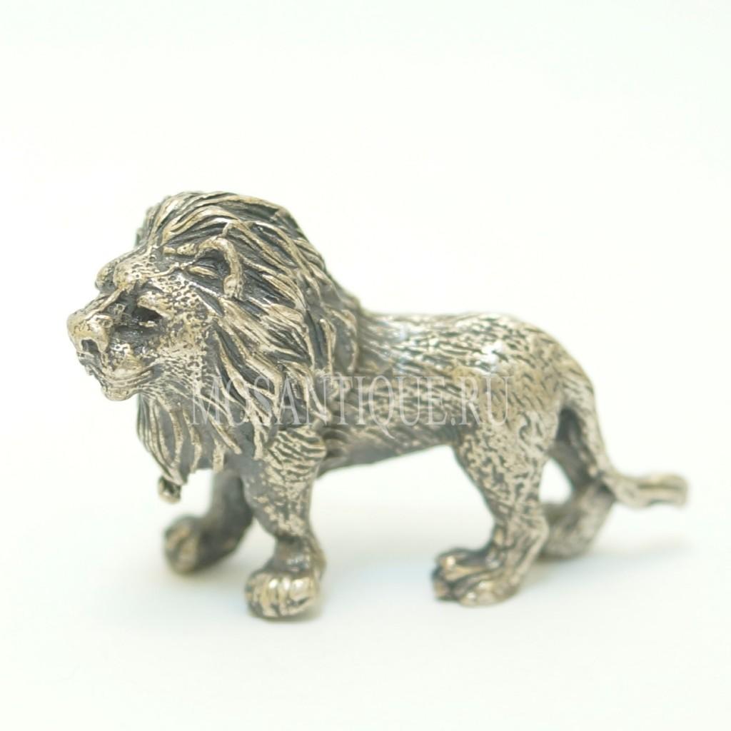 Статуэтка Лев |Серебро 800 Пробы