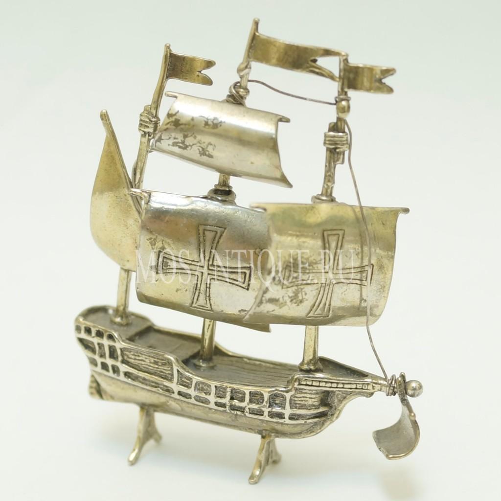 Фигурка Корабля |Серебро 800 Пробы