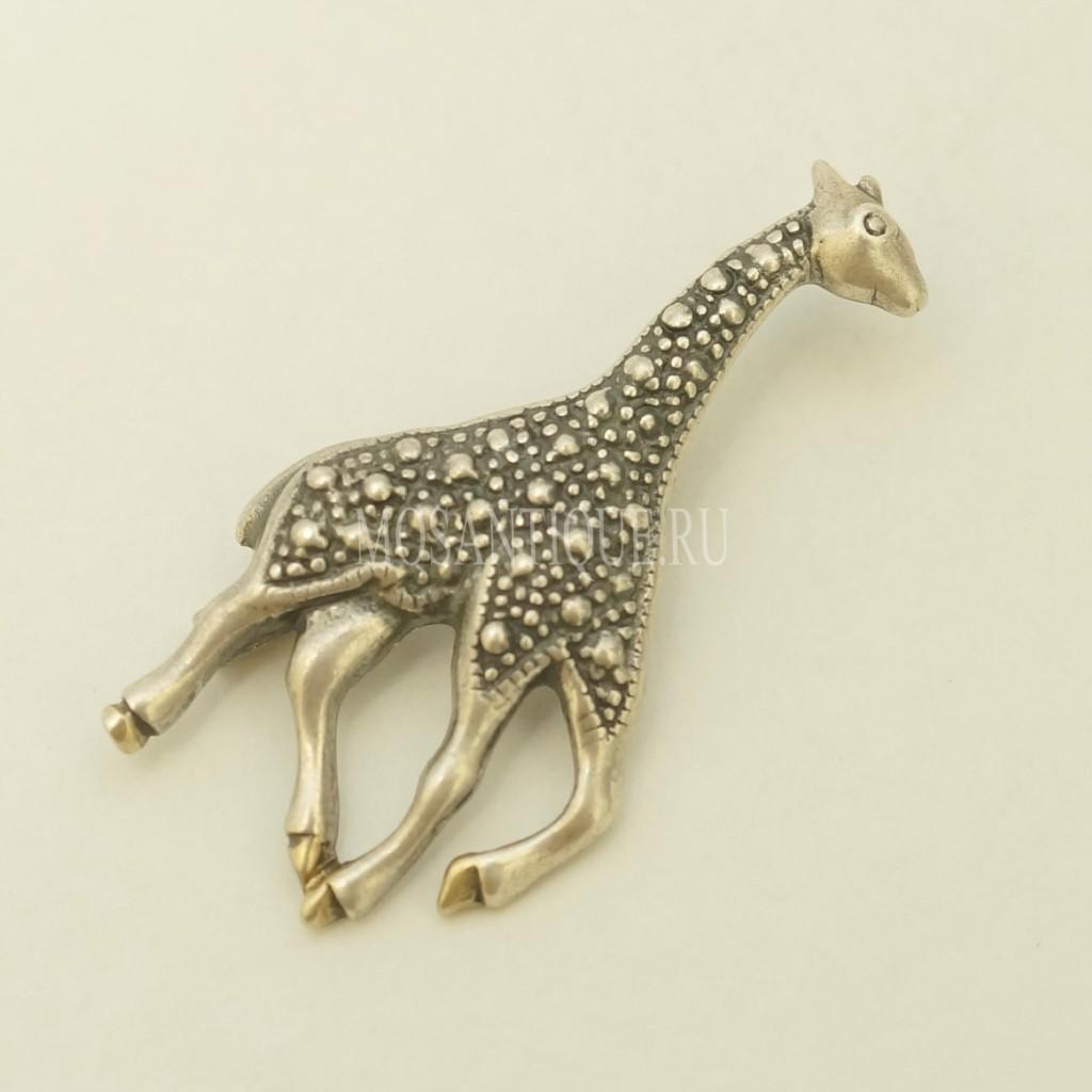 Винтажная Брошь «Жираф» |Серебро 925 Пробы