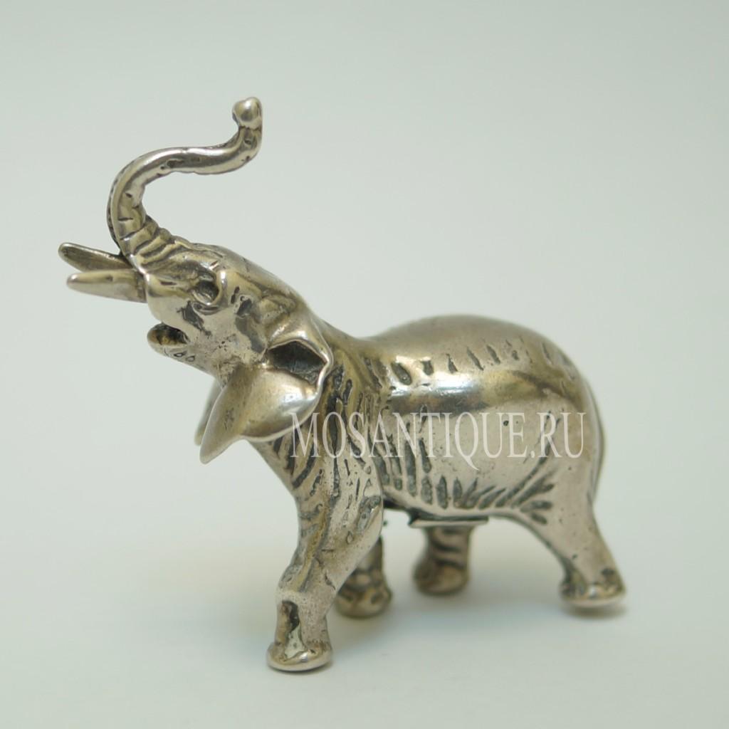 Серебряная Фигурка Слон