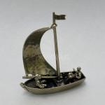 Серебряная Фигурка Парусная Лодка