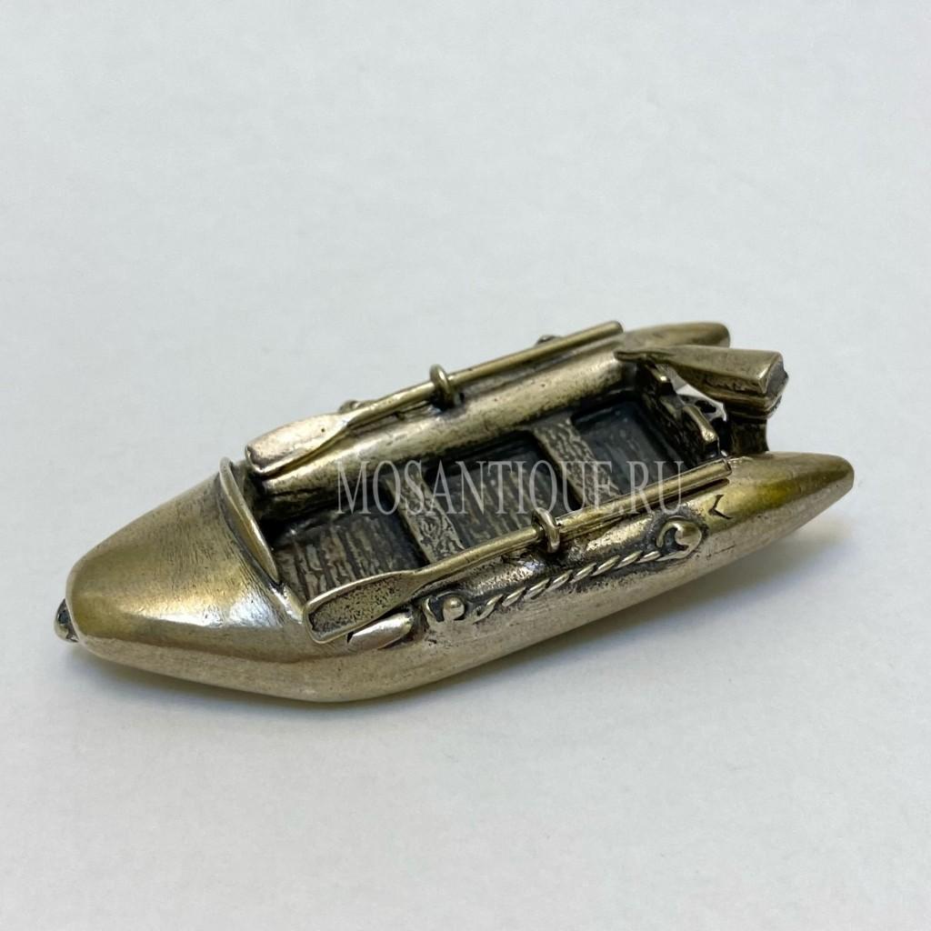 Серебряная Фигурка Надувная Лодка