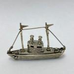 Серебряная Фигурка Рыбацкая Лодка