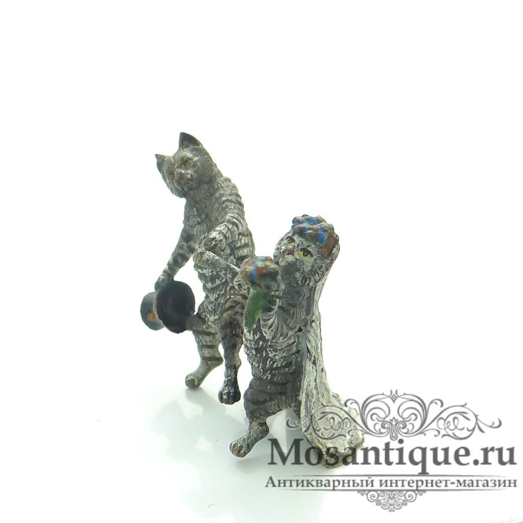 """Венская бронзовая миниатюра """"Свадьба котов"""""""