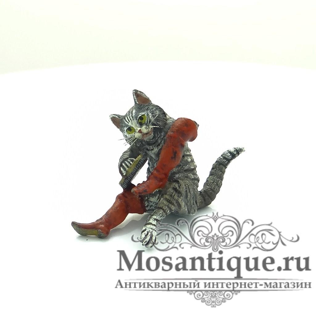 """Венская бронзовая миниатюра """"Кот в сапогах"""""""