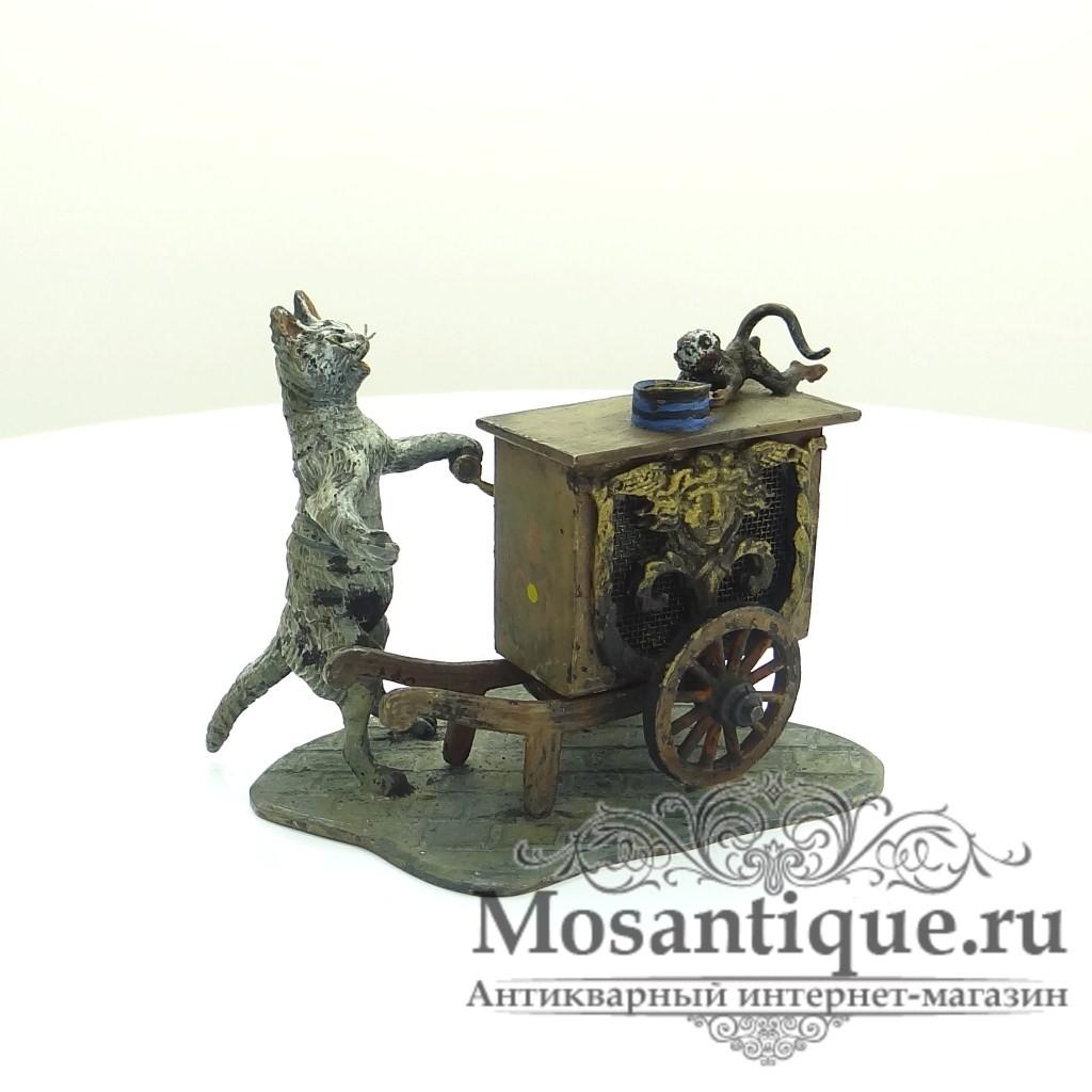 """Венская бронзовая миниатюра """"Бродячие музыканты"""""""