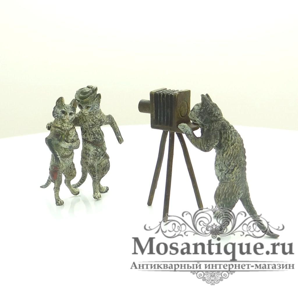 """Венская бронзовая миниатюра """"Фотосъемка"""""""
