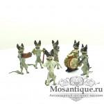 """Венская бронзовая миниатюра """"Собачий оркестр"""""""