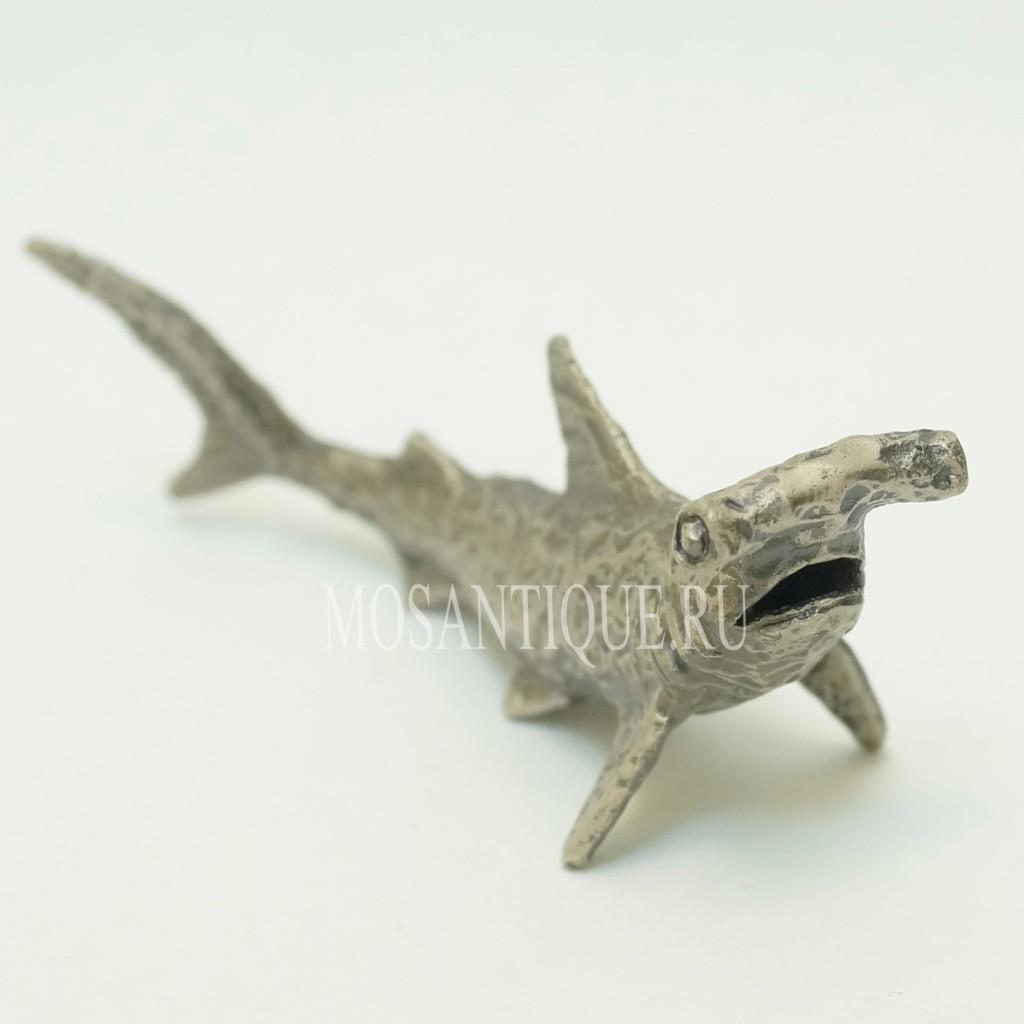 Серебряная Фигурка Акула-Молот
