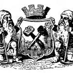Эмблема горного департамента с щитом