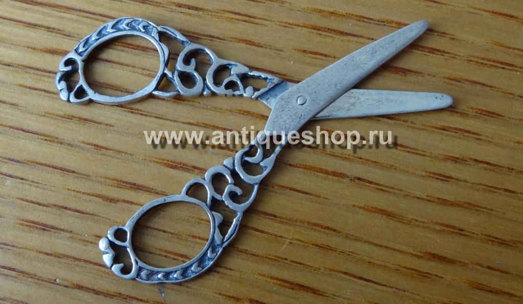 Серебряная миниатюра. Ножницы
