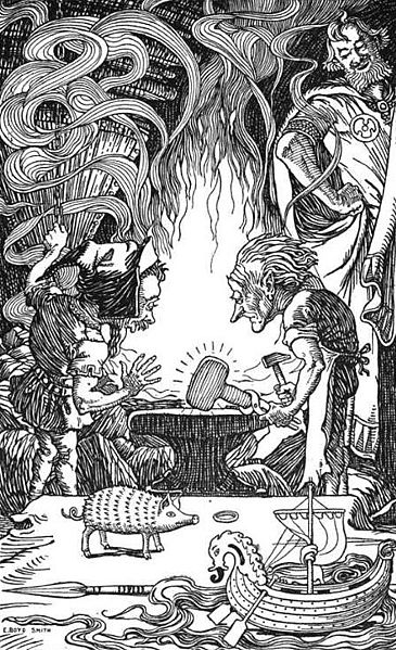 Образ гнома до вмешательства Толкина был иным - именно он стал основой для фигурки венской бронзы