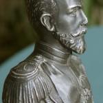 """Скульптура """"Бюст Николая II"""" вид в профиль"""