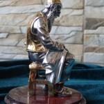 «Портной». Серебряная скульптура