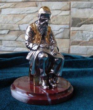 «Портной». Серебряная скульптура. Вид спереди
