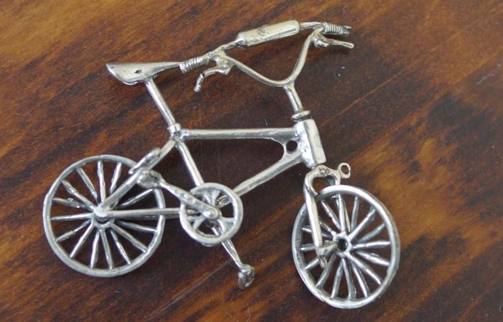 """Серебряная миниатюра """"Спортивный велосипед"""""""