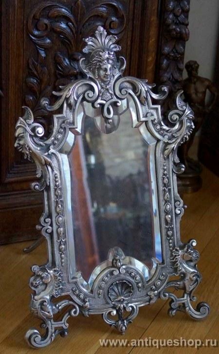 Старинное зеркало в дворцовом стиле