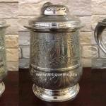 Комплект  серебряных пивных кружек (6 шт)
