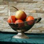 Резная  фруктовница в стиле ар нуво
