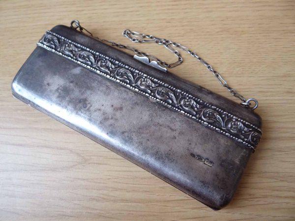 Старинный серебряный кошелек