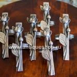 Посеребрённые кольца для салфеток (6 шт)