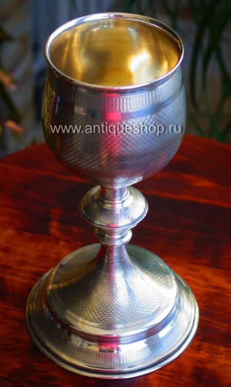 Старинный серебряный потир