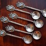 Серебряные кофейные ложки