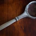 Бронзовый нож с увеличительным стеклом