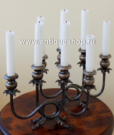 Винтажный канделябр. Восемь свечей.