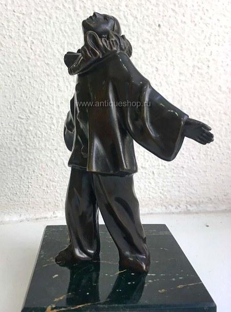 """Бронзовая статуэтка """"Пьеро"""""""