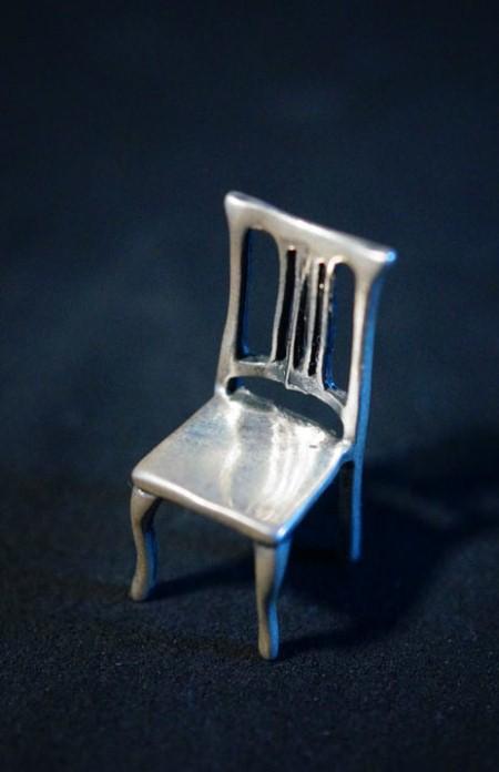 """Серебряная миниатюра """"Стульчик"""""""