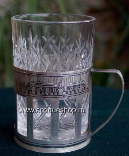 Коллекционный серебряный подстаканник