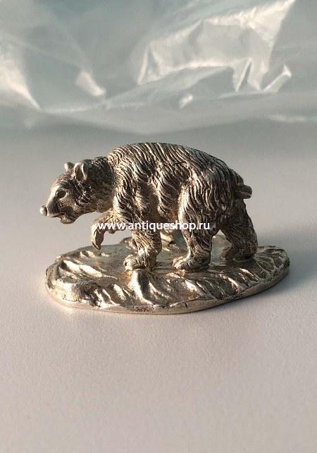 """Серебряная миниатюра """"Медведь"""""""