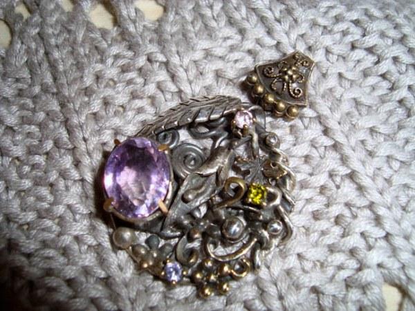 Антикварный серебряный кулон