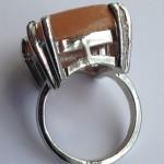 Кварцевый перстень с серебрением