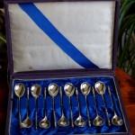 Набор  чайно-кофейных ложек. Антикварное Русское серебро